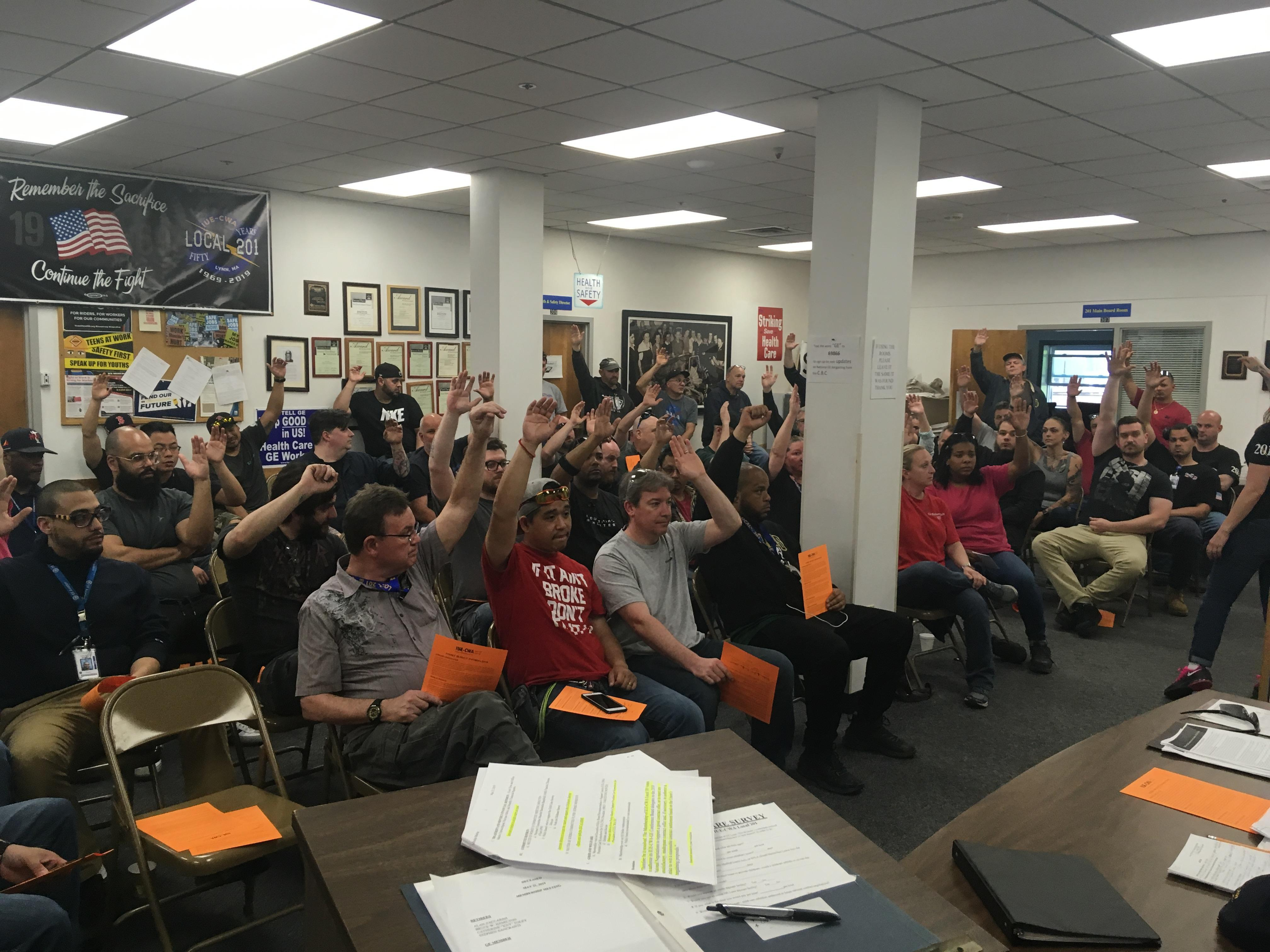 201 members vote YES! for GE Strike Authorization